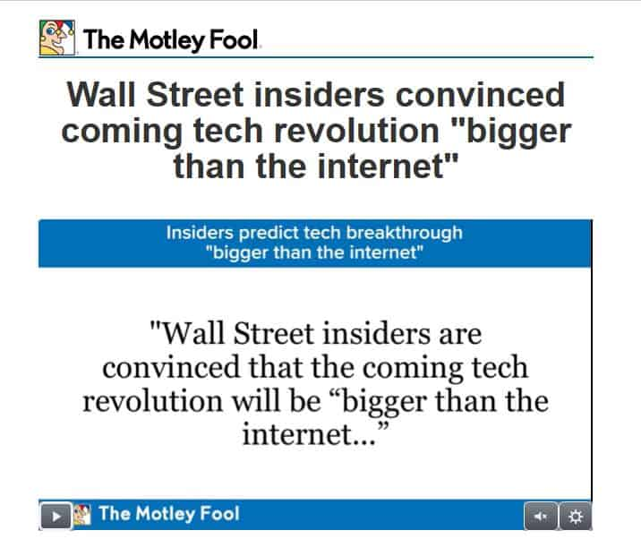 """Wall Street insiders convinced coming tech revolution """"bigger than the internet"""""""
