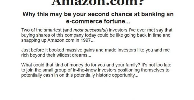 "Motley Fool ""The Next Amazon.com"""