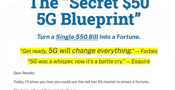 Secret $50 5G Blueprint