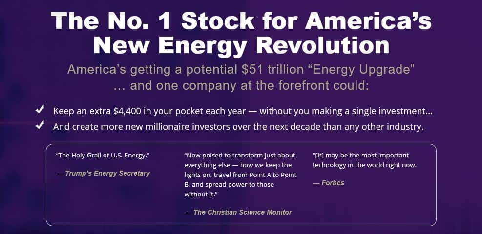 No.1 Stock For America's New Energy Revolution