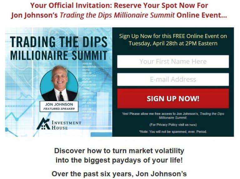 Trading The Dips Millionaire Summit