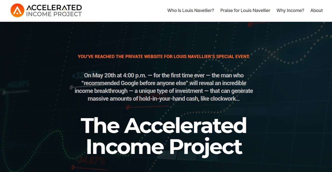 Accelerated Income Project by Louis Navellier