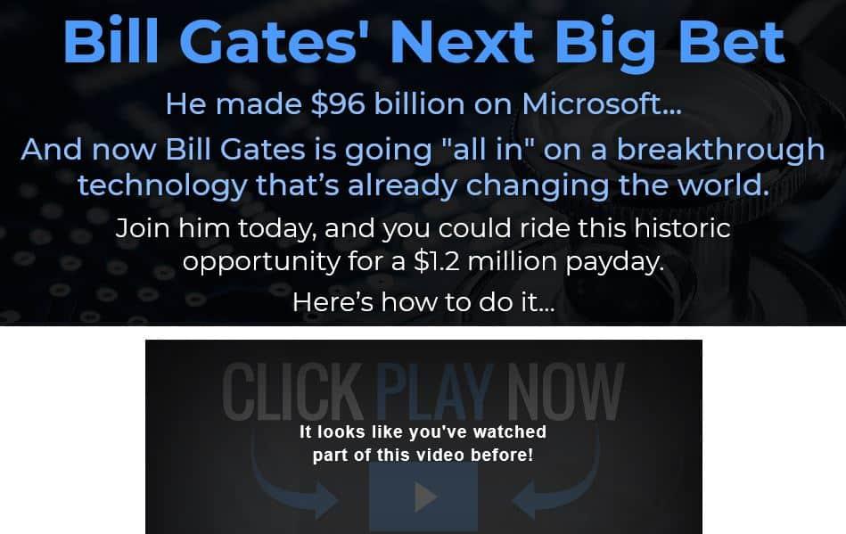 Bill Gates Next Big Bet