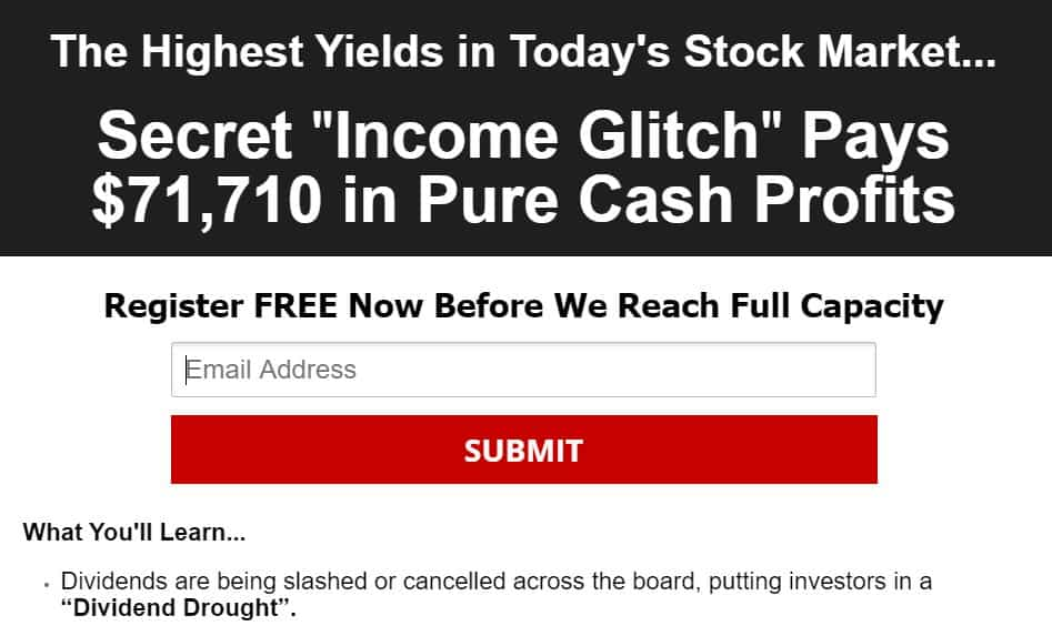 Stock Market Income Glitch
