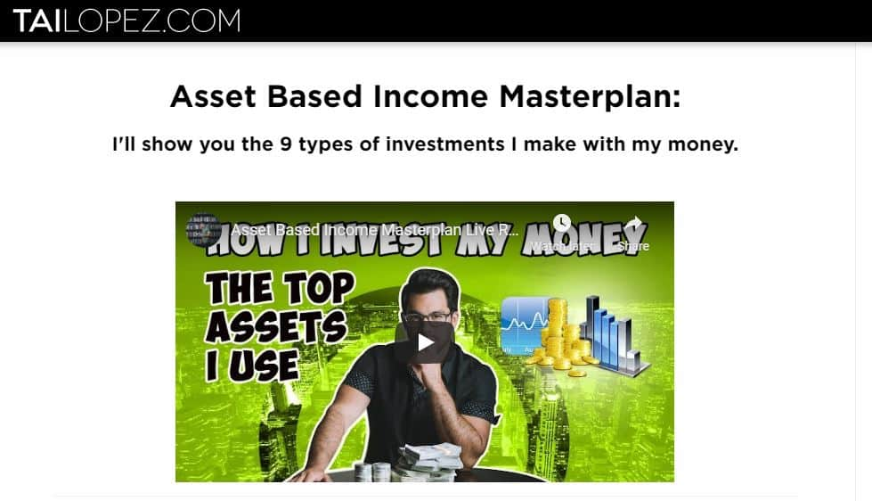 Tai Lopez Asset Based Income Masterplan