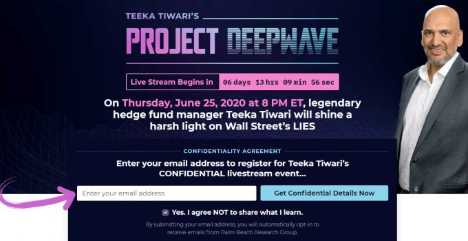 Teeka Tiwari's Project Deepwave