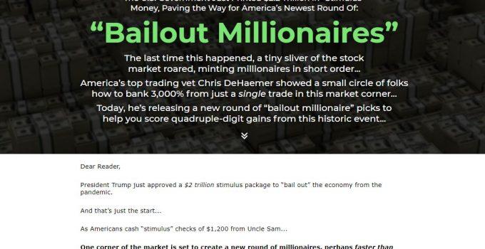 Bailout Millionaires (Chris Dehaemer)