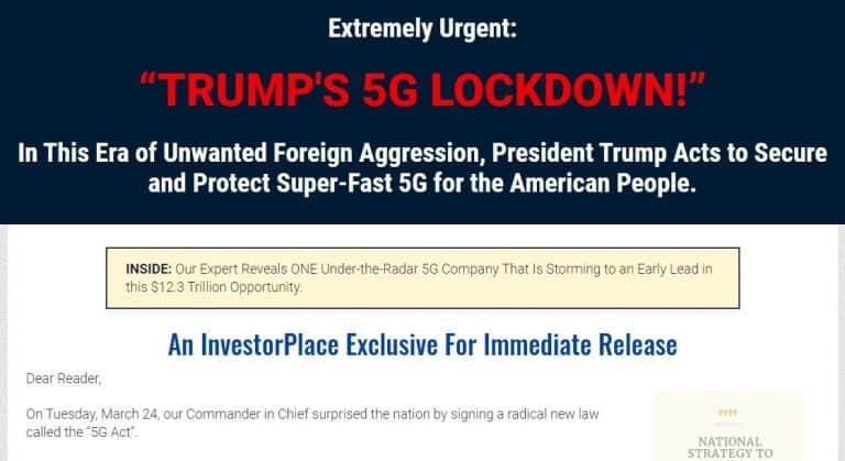 """Trump's 5G Lockdown"" pitch by Louis Navellier Legit? 8"