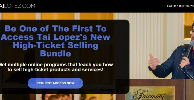 Tai Lopez High Ticket Sales System