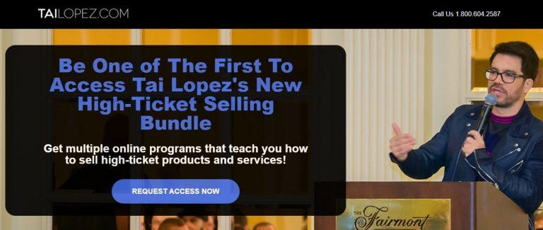 Tai Lopez High Ticket Sales System