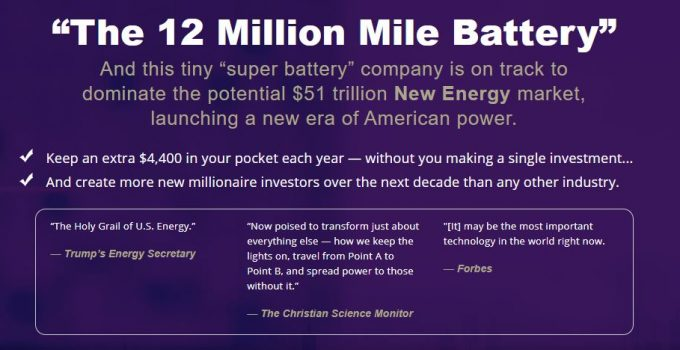 "What Is ""The 12 Million Mile Battery"" Stock? [Paul Mampilly Pitch] 18"