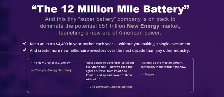 """What Is """"The 12 Million Mile Battery"""" Stock? [Paul Mampilly Pitch] 18"""