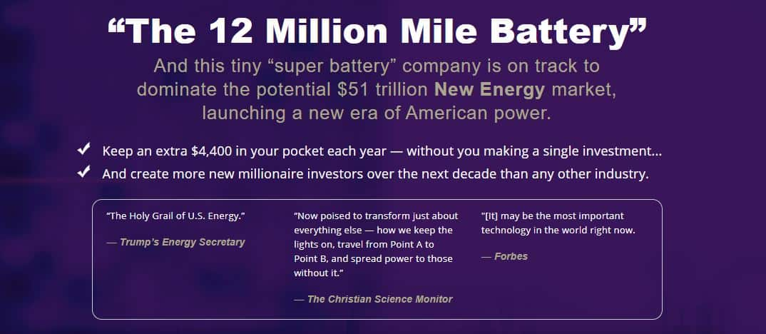 """What Is """"The 12 Million Mile Battery"""" Stock? [Paul Mampilly Pitch] 11"""