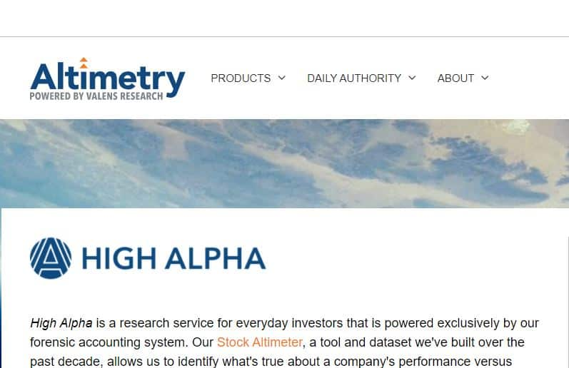 Altimetry's High Alpha