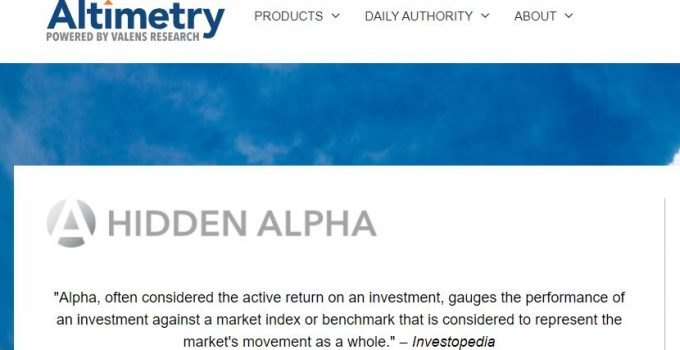 Altimetry's Hidden Alpha