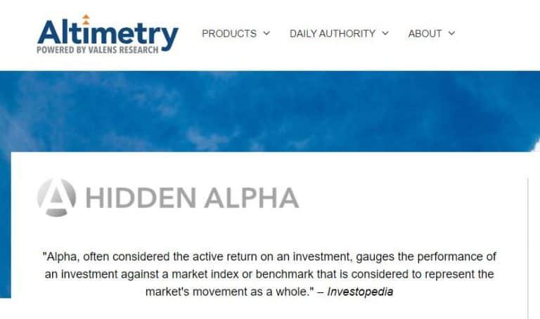 Altimetry's Hidden Alpha