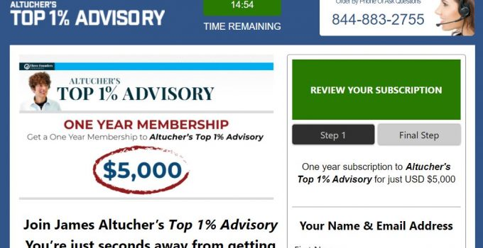 Altucher's Top 1% Advisory