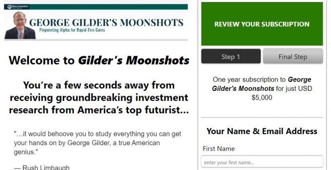 George Gilder's Moonshots