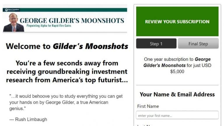 George Gilder's Moonshots