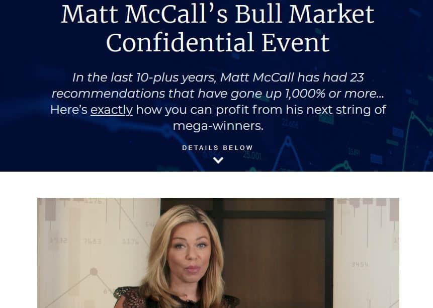 Matt McCall's Bull Market Confidential
