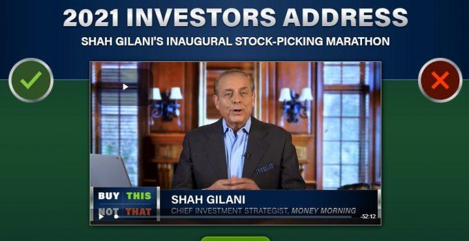 2021 Investors Address