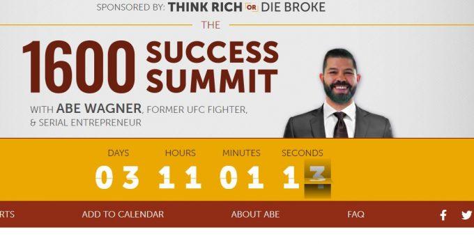 Is The 1600 Success Summit Legit? [Abe Wagner] 9
