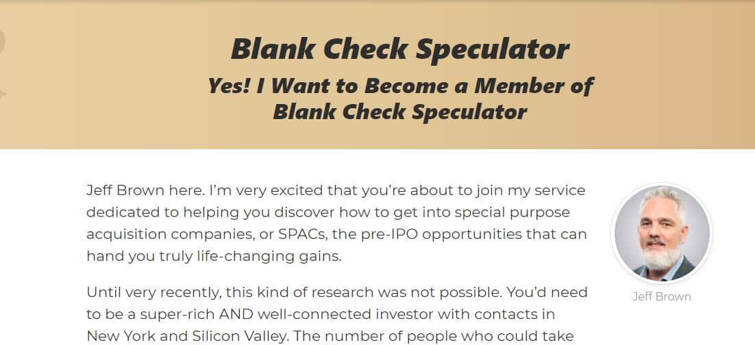 Blank Check Speculator