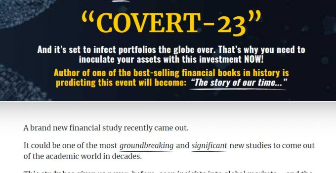 Casey Research's Covert-23