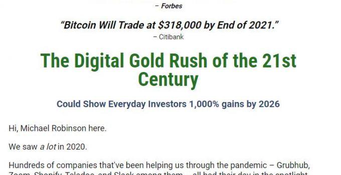 Michael Robinson's Digital Gold Rush