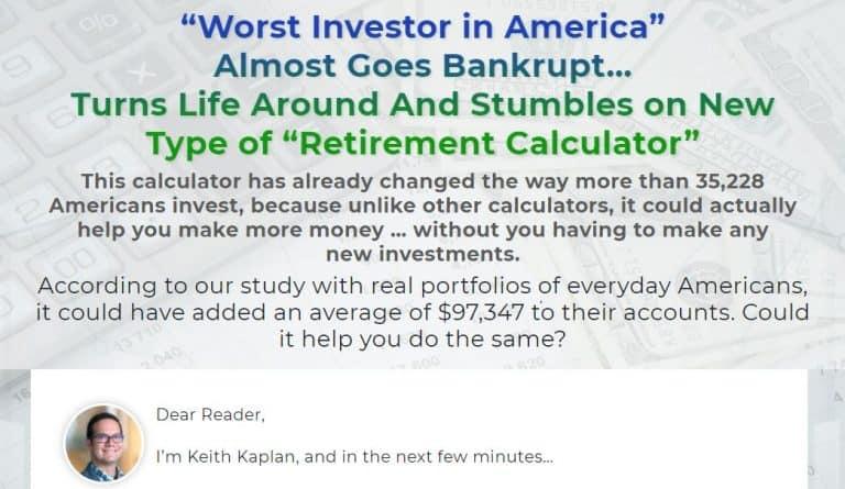Keith Kaplan's Retirement Calculator